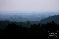 The South of Thailand is shrouded in harmful smog caused by forest fires in Indonesia mountain ranges.