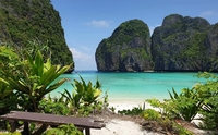 Months after being closed to tourists, the world-famous Maya Bay is showing encouraging signs of recovery. /Credit:Thon Thamrongnawasawat