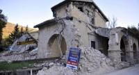 [File Photo] A general view of damaged church in Villa Sant'Antonio village, near Visso, a day after two big earthquakes shook central Italy, 27 October 2016.// EPA
