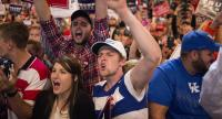 Supporters at a rally for Mr Trump on Oct 13 in Cincinnati, Ohio. PHOTO: AGENCE FRANCE-PRESSE