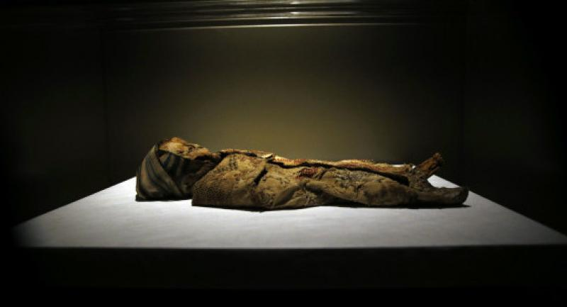 Naturally preserved mummies found in the caves of the Qadisha Valley and dating to 1283 AD are on display in the newly inaugurated basement section of Beirut