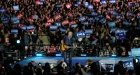 Bruce Springsteen performs during a campaign rally with Democratic presidential nominee former Secretary of State Hillary Clinton and U.S. President Barack Obama on November 7, 2016 in Philadelphia Pennsylvania. /AFP