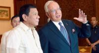 Meeting of two leaders: Najib talking to Duterte during the Philippines President