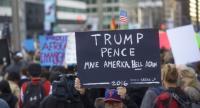 Protestors demonstrate against President-elect Donald Trump Sunday in Philadelphia, Pennsylvania. Mark Makela/Getty Images/AFP