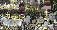 Tens of thousands of Malaysian protesters gather in the streets to step up pressure on Prime Minister Najib Razak to resign over alleged corruption during BERSIH (The Coalition for Clean and Fair Elections) 5.0 rally in Kuala Lumpur, 19 Nov 16./ EPA