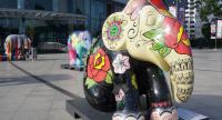 The Elephant Parade on display at Maya shopping mall in Chiang Mai province. Photo/Phoowadon Duangmee