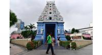 The Sri Srinivasa Perumal Temple features a fivetier entrance tower called a gopuram, showing the different incarnations of Lord Vishnu, known as the preserver and protector of the universe. Photo/The Straits Times