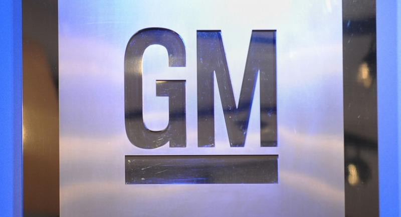 (FILES) This file photo taken on January 12, 2009 shows the logo of General Motors at the North American International Auto Show in Detroit, Michigan.  / AFP PHOTO