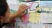Postcards on display at Government House are being submitted by children from across the country to extend best wishes to Prime Minister General Prayut |Chan-o-cha on the occasion of Children