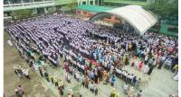 More than 2,000 local residents and students in Yala province bid farewell to Sapae-ing Basor, 81, the former principle of Thamvithya Mulnithi School, on January 16.  CREDIT: Ibrohem Masoh
