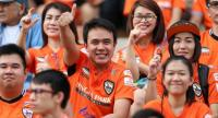 Fans of Chiangrai United FC at the United Stadium, which will change its name to Singha Chiangrai United Stadium.
