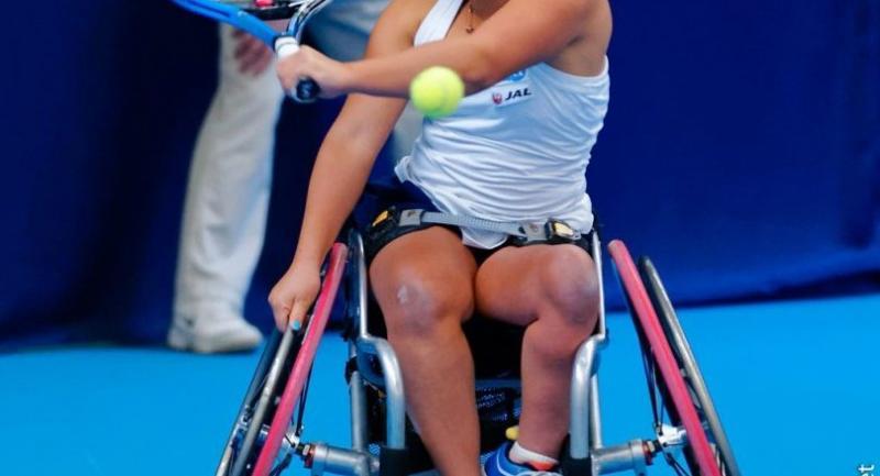 File photo: Wheelchair tennis player Yui Kamiji from Japan