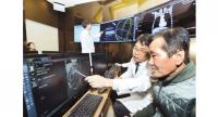 A doctor at Gachon University Gil Medical Center in Incheon uses IBM