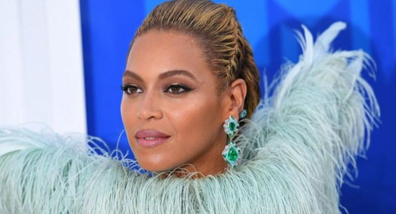 This file photo taken on August 28, 2016 shows singer Beyonce during the 2016 MTV Video Music Awards at Madison Square Garden in New York. / AFP PHOTO / Angela Weiss