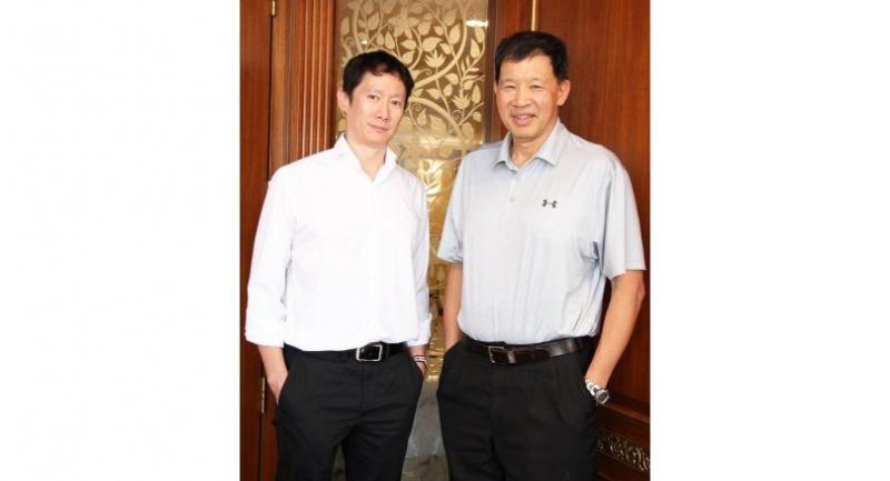 Vasant Chatikavanij, right, and Stanley Wang