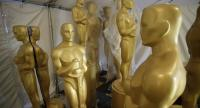 Oscar statues sit in a painting area near the red carpet during preparations for the 89th annual Academy Awards in Hollywood, California, USA, February 24, 2017. The Academy Awards, which honours the best in film making, will take place on 26 Feb.