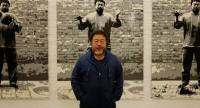 Ai Weiwei explains his crusade while standing in front of