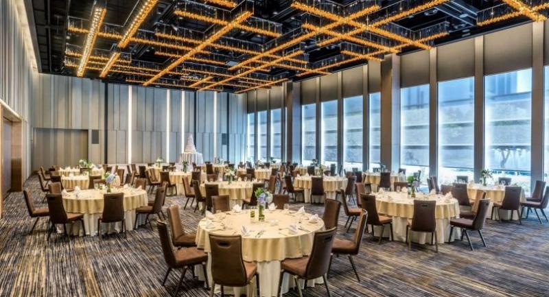 A newly built convention hall at Pullman Bangkok King Power Hotel.