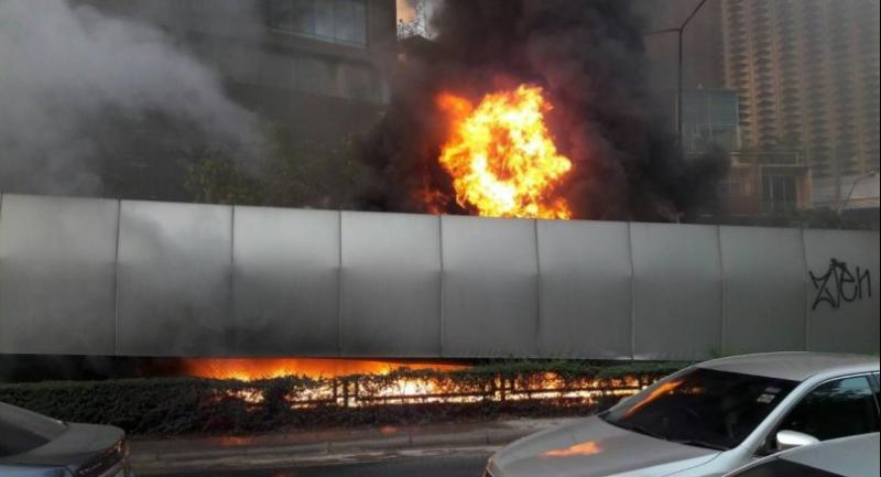 The Thai-Belgian bridge will be closed for up to 45 days after a huge blaze yesterday caused severe structural damage, and traffic in the area is likely to be affected.