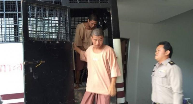 File photo: Myanmar migrant suspects are brought to the Samui Court in December last year.