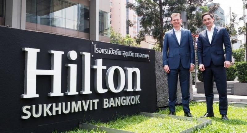 Guy Phillips, left, senior vice president development, Asia
