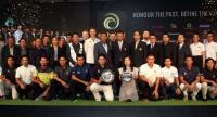 Players and organisers in a photo session.