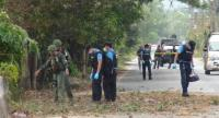 File photo : A bomb attack at army soldiers in Pattani province.