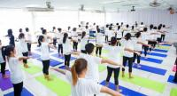 Krungthai Card introduced the yoga classes at Klong Prem Central Prison. Photo courtesy of KTC