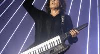 This file picture taken on September 18, 2010 shows French composer and music producer Jean-Michel Jarre playing a Roland keyboard during a concert in downtown Beirut. // AFP PHOTO