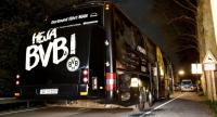 Team bus of Borussia Dortmund is seen on a street after it was hit by three explosions in Dortmund, Germany, 11 April 2017.//EPA