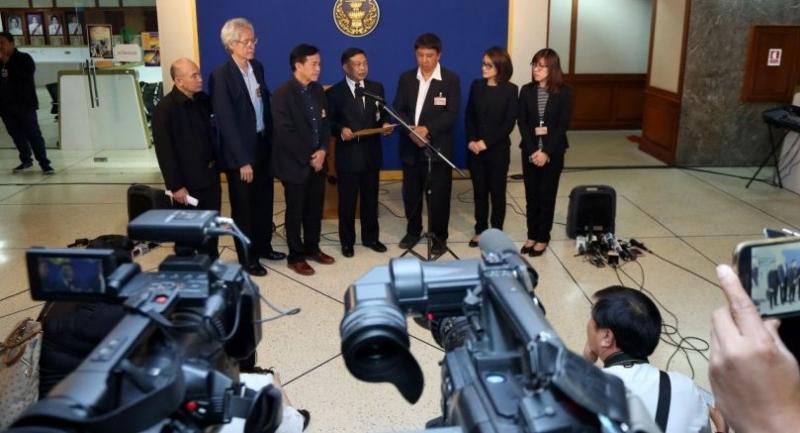 File photo : Media representatives file a petition against proposed media regulation bill.
