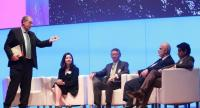 Chadatip Chutrakul, second from left, CEO of Siam Piwat Co, discusses luxury travel alongside other experts at this week's WTTC Global Summit in Bangkok.