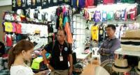 Police seized more than 3,200 items of pirated clothing, electronics and miscellaneous items from shops and warehouses in Patong. Photo: Kritsada Mueanhawong