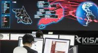A photo taken on Monday shows staff monitoring the spread of ransomware cyber-attacks at the Korea Internet and Security Agency (KISA) in Seoul More cyberattacks could be in the pipeline. / AFP PHOTO / YONHAP