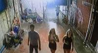 A still from the CCTV footage installed at the facility shows the man involved in the attack (left) with two of his friends. Photo: Kritsada Mueanhawong