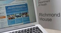 This photograph, posed as an illustration on May 12, 2017, shows the website of the NHS: East and North Hertfordshire notifying users of a problem in its network taken outside the Department of Health in London. / AFP PHOTO