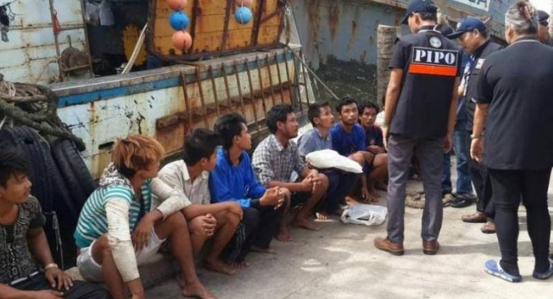 The fishing boat rescued 15 crew members of a sunken Myanmar vessel. Photo: Phuket Marine Police
