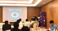 Participants at the seminar on banking solutions held in Vientiane last week.