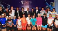 Organisers and players in a photo session.