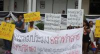 Local fishermen and representatives from fish processing groups gathered at Damrongdharma Center. Photo: Kritsada Mueanhawong