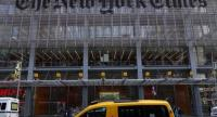 (FILES) This file photo taken on April 27, 2016 shows the New York Times building at 620 Eighth Avenue in New York.  / AFP PHOTO