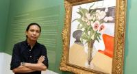 """Natee Utarit is examining five classical genres in Wester art, most recently the stilllife, in the Kuala Lumpur exhibition """"It would be Silly to be Jealous of a Flower"""".  Photo/The Star"""