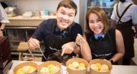Chef Sirasa Laoputthipong demonstrates how to make Chigiri Bread