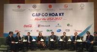 "A panel discussion at the ""Meet the USA 2017"" seminar held in Ho Chi Minh City on Wednesday."