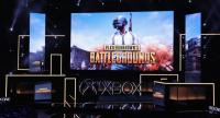 Creater Brendan Greene announces 'PlayerUnknown's Battlegrounds' during the Microsoft xBox E3 briefing at the Galen Center on June 11, 2017 in Los Angeles, California./AFP
