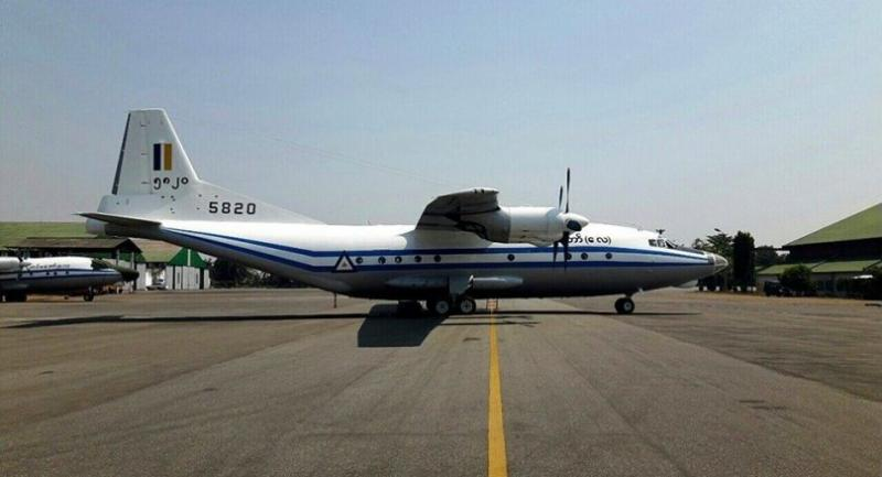 An undated handout file photo shows Shaanxi Y-8, a medium size medium range transport aircraft, which crushed into Andaman Sea on 07 June 2017 parked on the tarmac at an Air Force Base in Myanmar. EPA