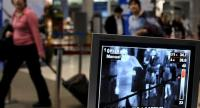 What the cameras see and record when a passenger passes through a metal detector at Phuket International Airport. Photo: Gazette file