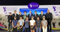 Players and organisers during the press conference at Golden Tulip Hotel.