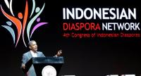 Former US president Barack Obama gives a speech during the 4th Congress of the Indonesian Diaspora in Jakarta, Indonesia, on July 1. Obama is in Jakarta as part of his ten-day family holiday in Indonesia.//EPA