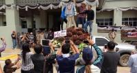 Protesters gathered from Krabi, Trang, Phanag Nga, Chumphon, Ranong, Surat Thani and Nakhon Sri Thammrat. Photo: Kritsada Mueanhawong